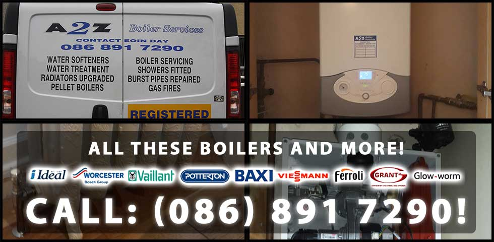 We can service, repair and install a wide range of both gas and oil boilers throughout Co. Kildare and Co. Laois including boilers from the following brands: Baxi, Black Tecknigas, Worchester, Heatrae Sadia, Ravenheat, MTS Group, Buderus, Vokera, Santon, EOGB, Potterton, Ideal, Valor, Chaffoteaux, Vaillant, Rocol, Hamworthy, Ferroli, Nu-Way, Ariston, Alpha, Johnson and Starley, Halstead, Saunier and Duval, Glow Worm, Altecnic, Airflow, Biasi, Keston Boilers, Grant, Gledhill, Horstmann, Main, Honeywell, Sime, Sunvic, Danfoss and many other oil and gas boilers. Call us today on (086) 891 7290