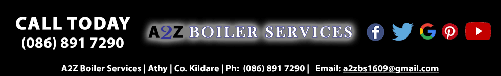 Call A2Z Boiler Services in Athy, Co. Kildare Today. We provide our plumbing and heating services including oil and gas boiler service, oil and gas boiler repairs, oil and gas boiler installations and power flushing throughout Co. Laois and Co. Kildare including Athy, Portlaoise, Naas, Maynooth and surrounding towns and villages. You can call us 24 hours a day, 7 days a week on (086) 891 7290 or email us a2zboilerservices@hotmail.com. You can also learn more about us through our facebook, twitter and google plus social media sites.